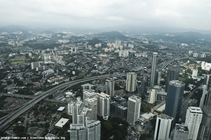 Kuala Lumpur from the second highest tower in the world!