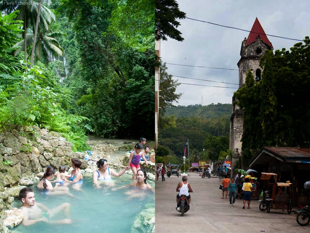 The tourists (L) and the locals (R). Mainit spring hotness (hey, not the gut, the water! :p) level #2; Downtown local market